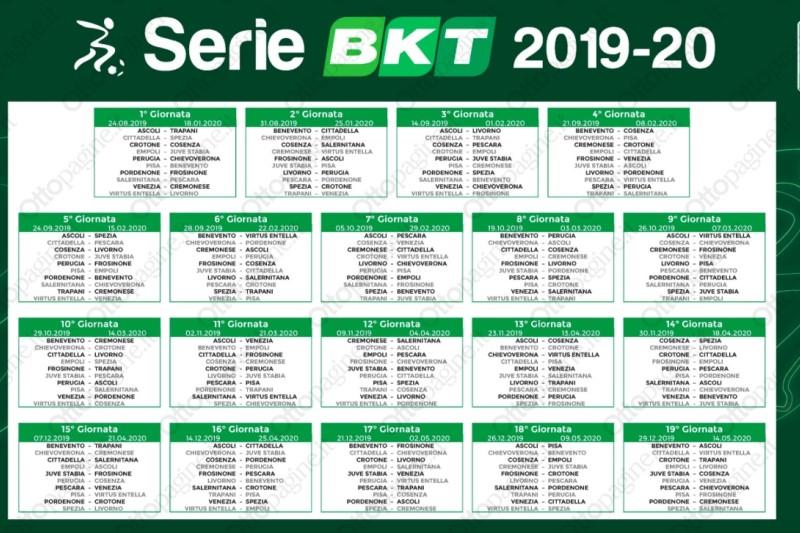Benevento Calendario.Foto Ecco Il Calendario Della B Ottopagine It Benevento
