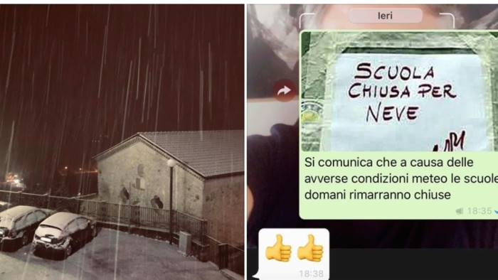 neve in irpinia nella notte le scuole restano chiuse