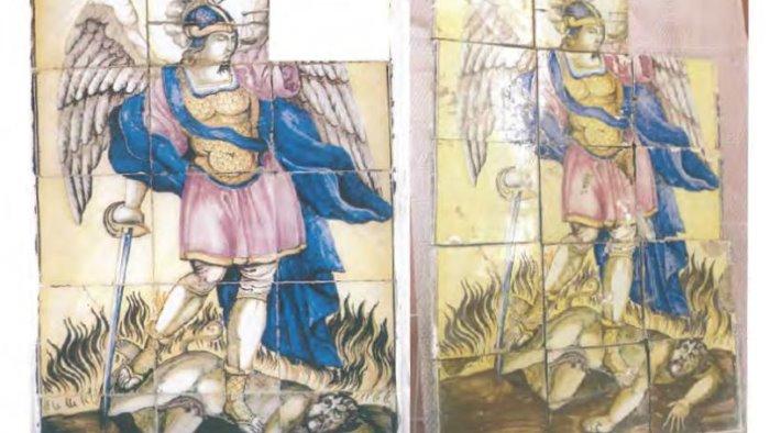 il pannello di san michele arcangelo ritorna a contrada