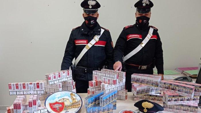 sorpreso in auto con nove chili di sigarette di contrabbando