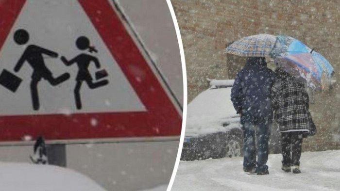 allerta neve e ghiaccio domani asili ed elementari chiuse