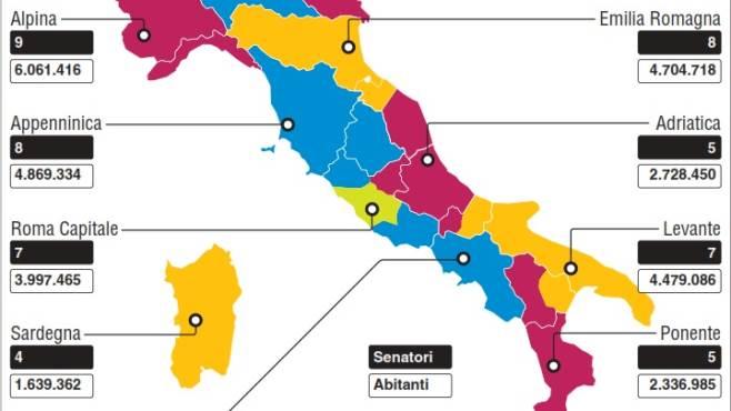 Nuove regioni la campania si allarga e diventa tirrenica - Regioni italiane non bagnate dal mare ...