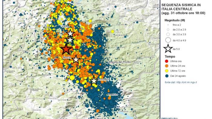 Terremoto, continuano le scosse. La più forte a Perugia: magnitudo 4.2
