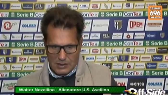 Parma - Avellino 2-0, Novellino: dovevamo metterci più grinta