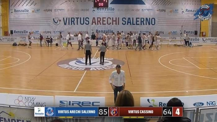 basket serie b salerno vittoria comoda su cassino 85 64