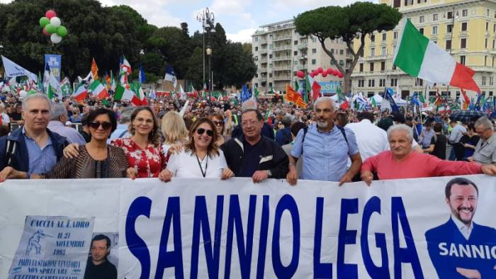 leghisti sanniti a roma solo noi lottiamo per i cittadini