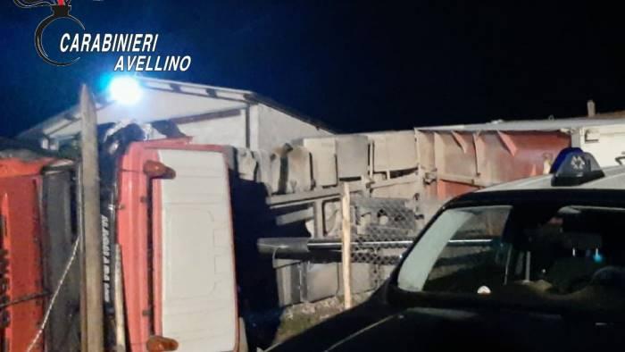 tragedia a bisaccia autocarro si ribalta muore 56enne