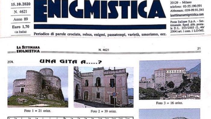 nella settimana enigmistica un gioco dedicato a montesarchio