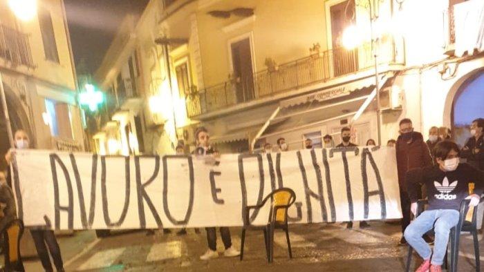 lavoro e dignita proteste anche a san valentino torio