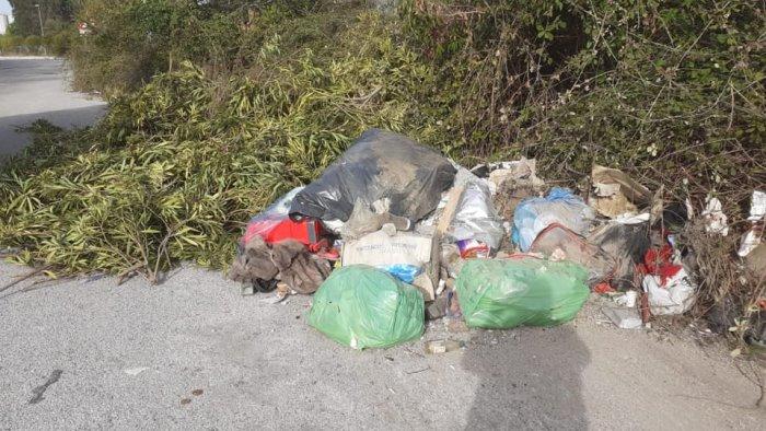 battipaglia rifiuti in viale francia bonificata area