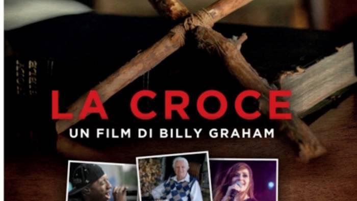 la croce su billy graham proiettato al san marco