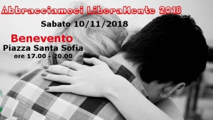 abbracci gratis per tutti domani a benevento