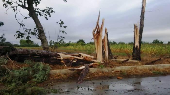 foto violento nubifragio stalle distrutte campi allagati