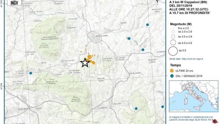 sciame sismico ingv zona di pericolosita elevata