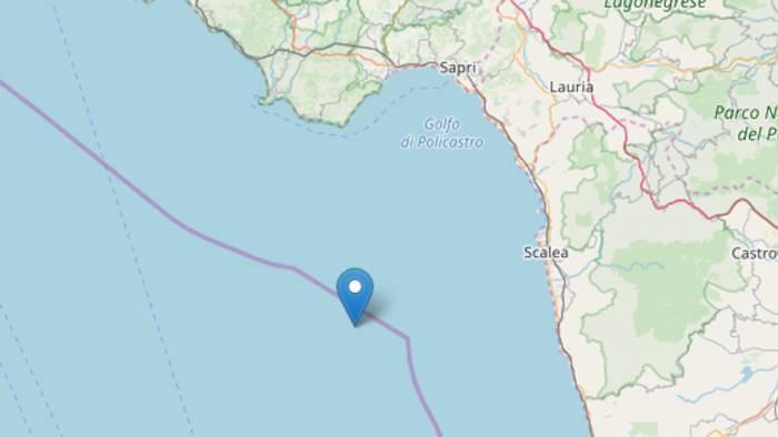terremoto due scosse registrate a largo di camerota