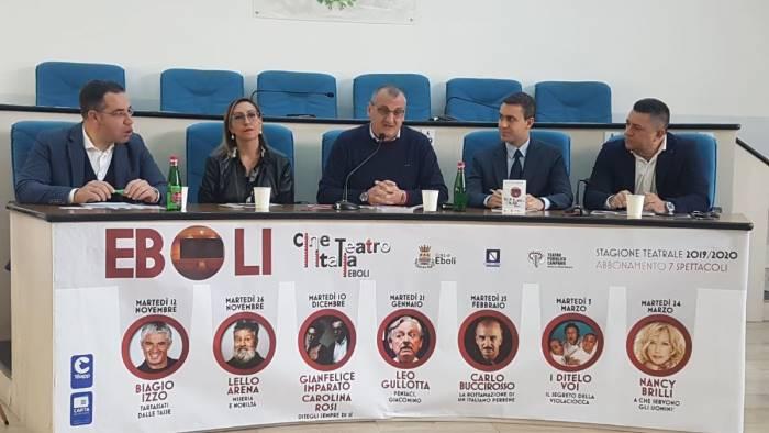 biagio izzo e lello arena in scena al teatro italia di eboli