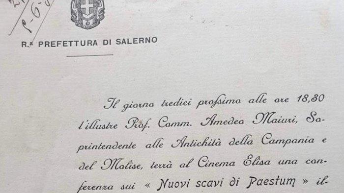 scavi di paestum spunta un documento risalente al 1931
