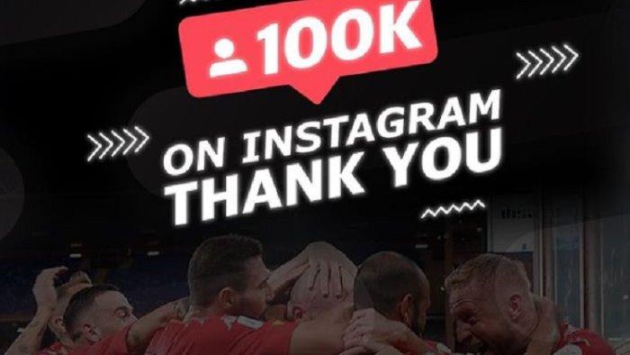 social media il benevento celebra i 100mila follower