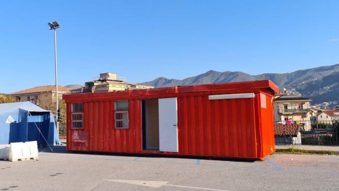 cava de tirreni un container ufficio a sostegno dell usca