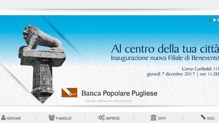 banca popolare pugliese nuova filiale in centro citta