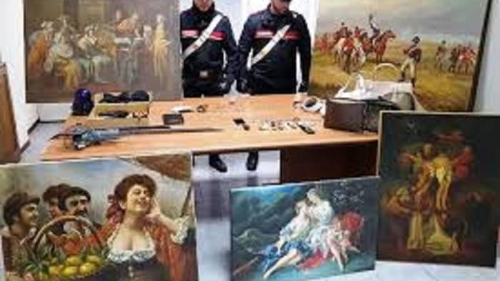 dipinti preziosi ritrovati in casa di due albanesi
