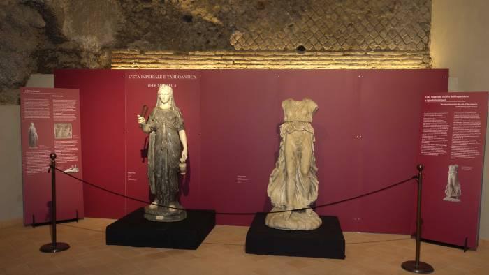 reperti inediti del mann nella basilica della pietrasanta
