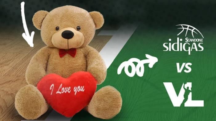 scandone torna il teddy bear toss nella gara con pesaro