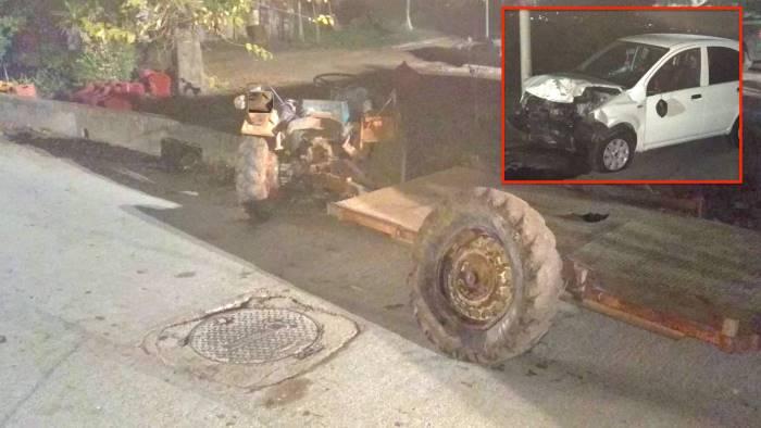 scontro tra auto e trattore due persone ferite