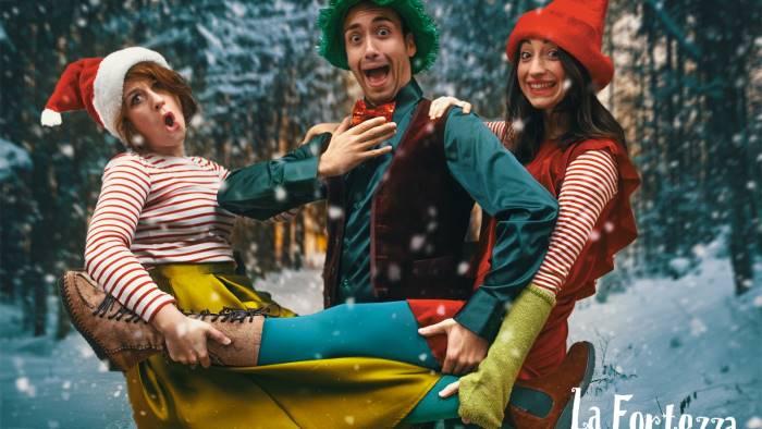 gli elfi di puck teatre nella fortezza del natale
