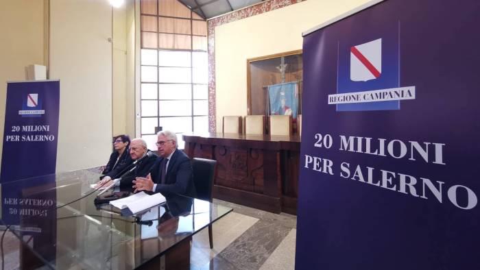 firma sui pics 20 milioni in arrivo per i progetti di salerno