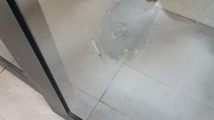 siringhe sporche nei palazzi sos dei residenti