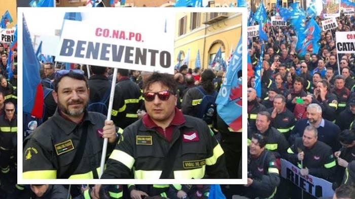 Vigili del fuoco cuneesi protestano a Roma