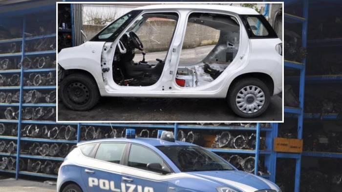 Fiat 500 Rubata Ritrovata In Autodemolizione Dalla Polizia