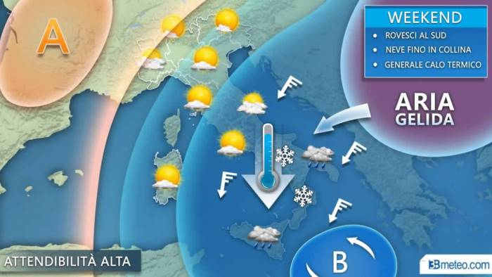 freddo russo in arrivo nel weekend neve anche a quote basse