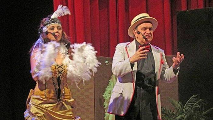 elena parmense e gaetano stella inaugurano il teatro schiavone