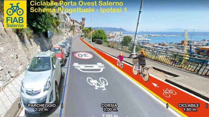 fiab riapriamo salerno alle biciclette sicuri su via croce