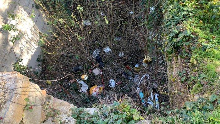 ariano topi e un fosso ricettacolo di rifiuti a via parzanese