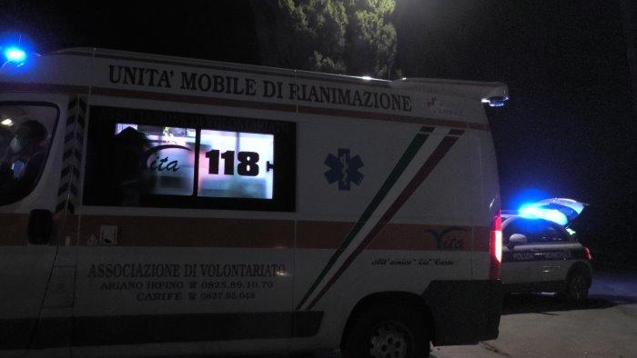ariano scontro a camporeale due feriti in ospedale