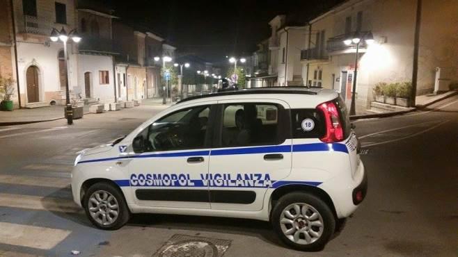 valle del cervaro carabinieri e cosmopol vigilano nella notte