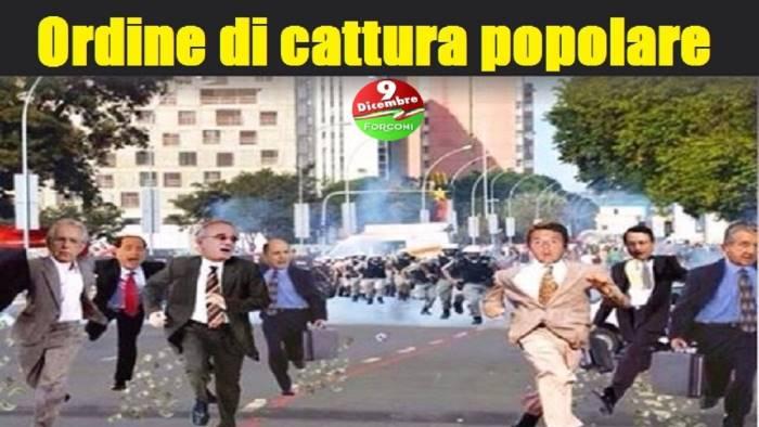 Indagine sul movimento dei forconi coinvolto anche un for Parlamentari forza italia