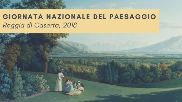 giornata nazionale del paesaggio alla reggia