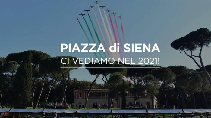 cancellato il concorso ippico piazza di siena