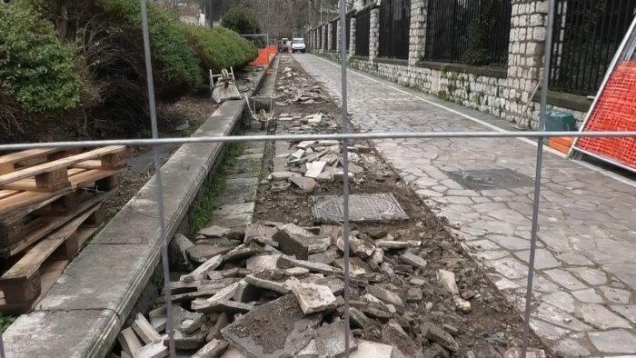 avellino i platani e la nuova fisionomia di viale italia