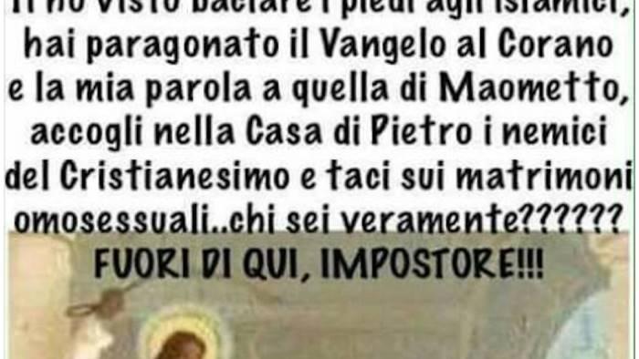 post contro papa francesco bufera sull assessore dimettiti