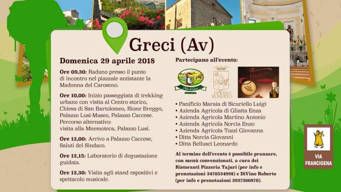 Image result for VIA FRANCIGENA GRECI (AV)