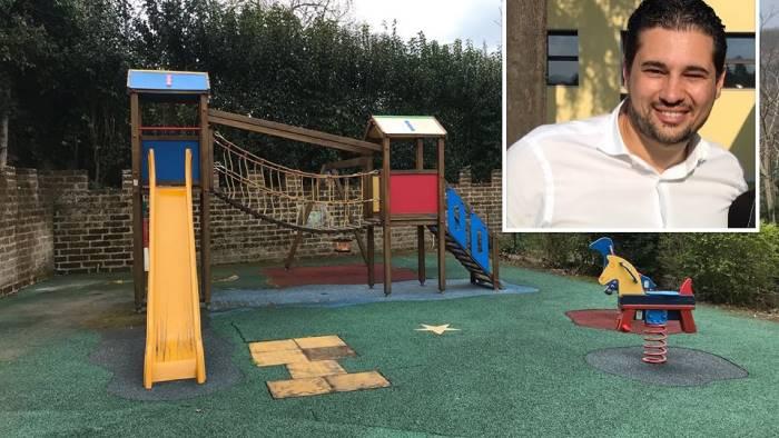 pro loco ripulisce il parco giochi intitolato a geny tranfa