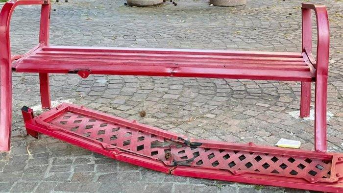 panchina rossa devastata nel casertano rabbia e amarezza