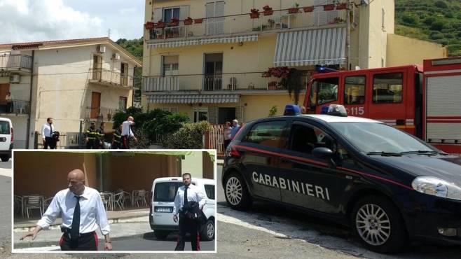 bombola gpl in fiamme carabiniere sannita salva un anziana