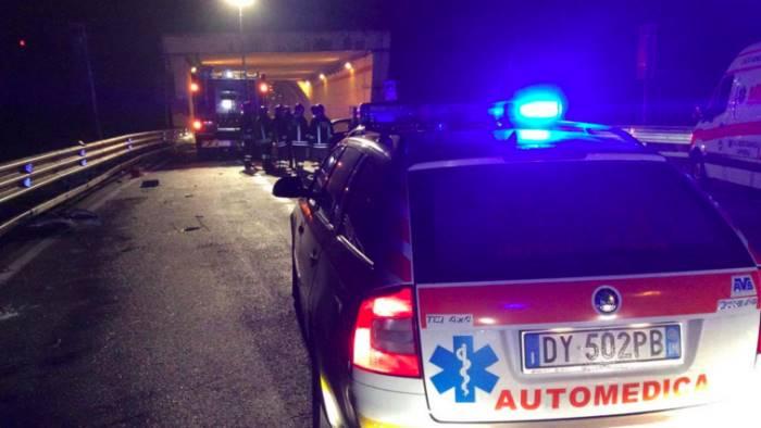 Incidente stradale sulla Panoramica, un morto e tre feriti