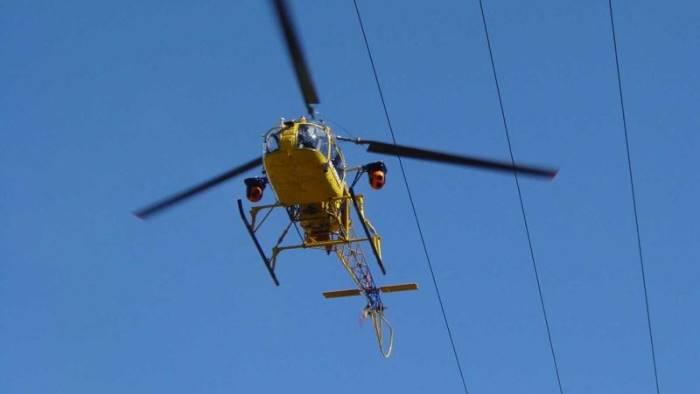check up in elicottero per oltre 1000 km di linee elettriche
